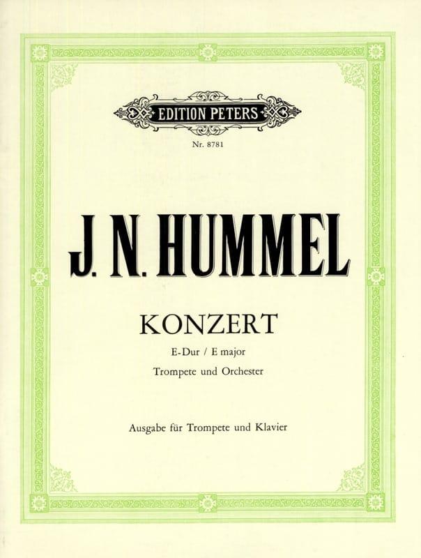 HUMMEL - Konzert E-Dur - Partition - di-arezzo.es