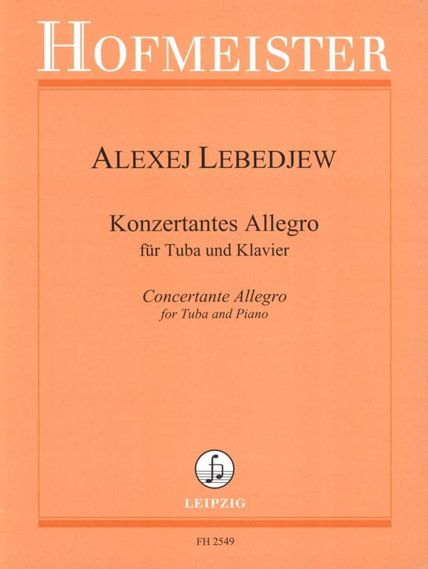 Alexej Lebedjew - Konzertantes Allegro - Partition - di-arezzo.fr