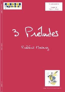 Frédéric Macarez - 3 Preludes - Partition - di-arezzo.co.uk