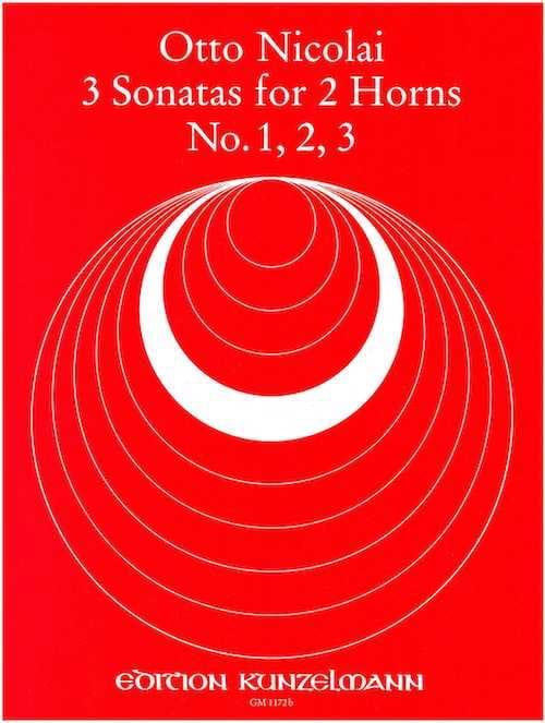 Otto Nicolai - 3 Sonatas N° 1, 2, 3 - Partition - di-arezzo.fr