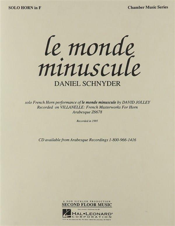 Le Monde Minuscule - Daniel Schnyder - Partition - laflutedepan.com