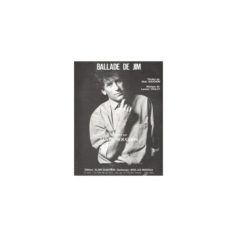 Alain Souchon - Jim's Ballad - Partition - di-arezzo.co.uk