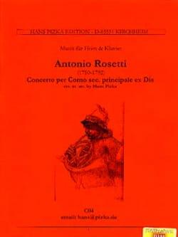 Francesco Antonio Rosetti - Concerto Per Corno Secundo Kaul41 - Partition - di-arezzo.com