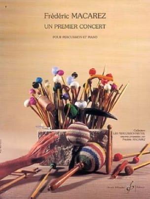 Un Premier Concert - Frédéric Macarez - Partition - laflutedepan.com