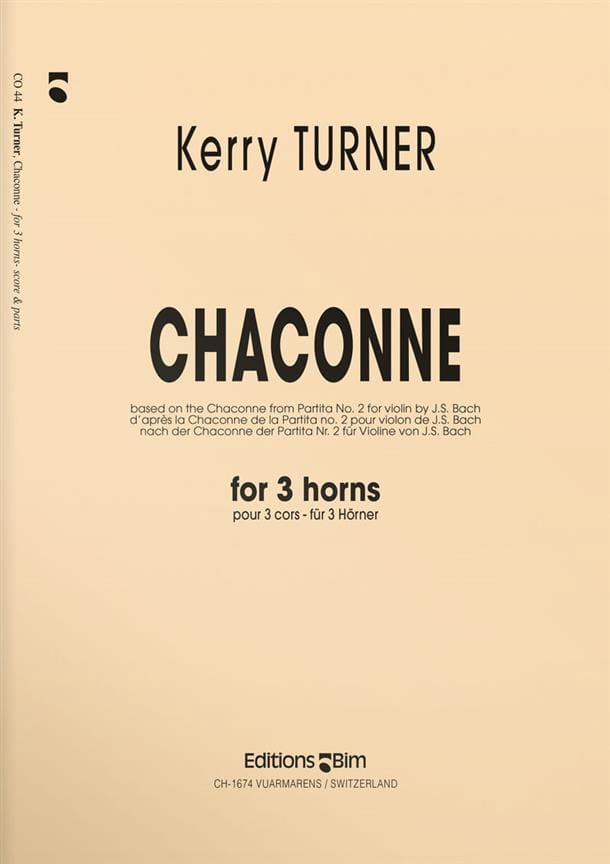 Kerry Turner - Chaconne - Partition - di-arezzo.co.uk