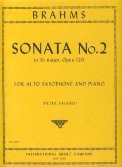 BRAHMS - Sonata No. 2 In Ebore Major Opus 120 - Partition - di-arezzo.co.uk