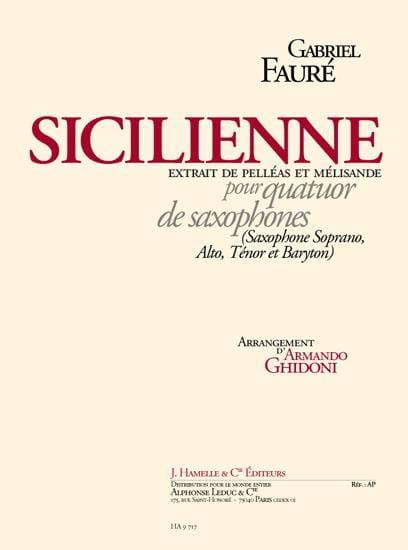 Sicilienne Pelléas Et Mélisande - FAURÉ - Partition - laflutedepan.com