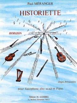 Historiette - Paul Méranger - Partition - Saxophone - laflutedepan.com