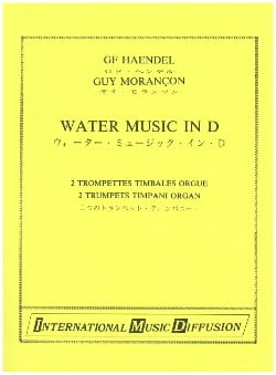 HAENDEL - Water Music in D - Partition - di-arezzo.com