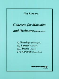Concerto For Marimba / Piano - Ney Rosauro - laflutedepan.com