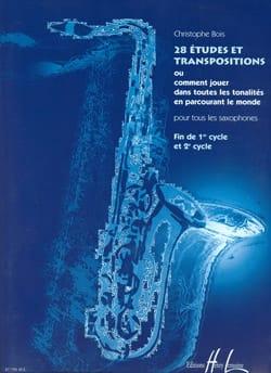 28 Etudes Et Transpositions - Christophe Bois - laflutedepan.com