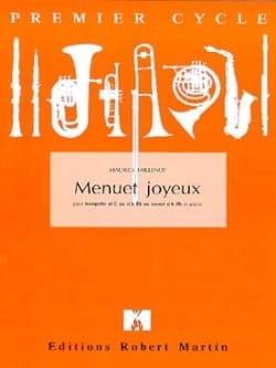 Menuet Joyeux - Maurice Faillenot - Partition - laflutedepan.com