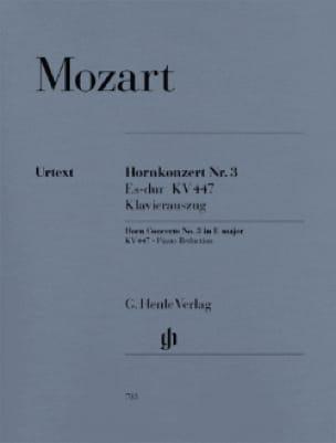 MOZART - Hornkonzert Nr. 3 Es-Dur KV 447 - Partition - di-arezzo.co.uk