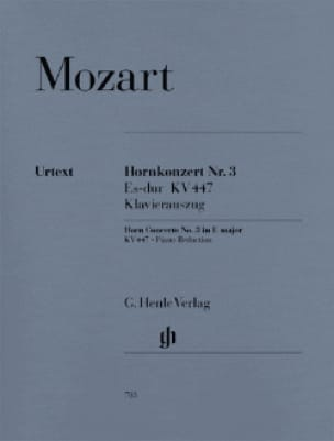 MOZART - Hornkonzert Nr. 3 Es-Dur KV 447 - Partition - di-arezzo.fr