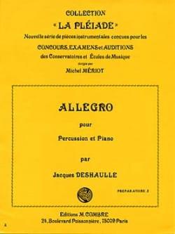 Allegro - Jacques Deshaulle - Partition - laflutedepan.com