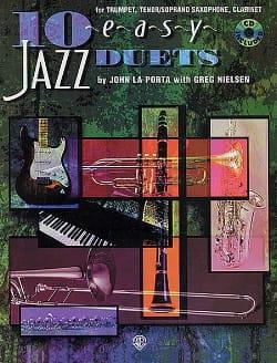 10 Easy Jazz Duets Bb - La Porta J. / Nielsen G. - laflutedepan.com