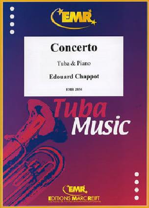 Concerto - Edouard Chappot - Partition - Tuba - laflutedepan.com