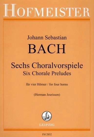 Sechs Choralvorspiele - BACH - Partition - Cor - laflutedepan.com
