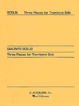 Giacinto Scelsi - 3 pieces - Partition - di-arezzo.co.uk