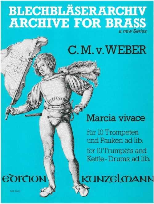 Marcia Vivace - C.M. V. Weber - Partition - laflutedepan.com