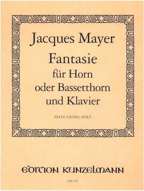 Fantasie - Jacques Mayer - Partition - Cor - laflutedepan.com