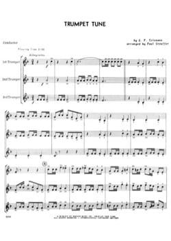 Trumpet Tune. 3 Trompettes - TELEMANN - Partition - laflutedepan.com