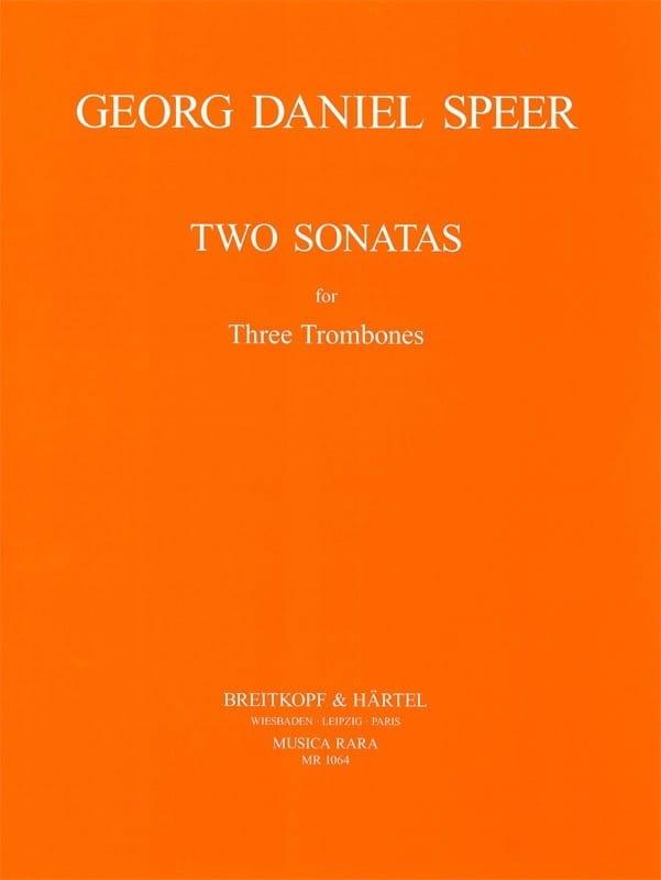 Two Sonatas - Daniel Speer - Partition - Trombone - laflutedepan.com