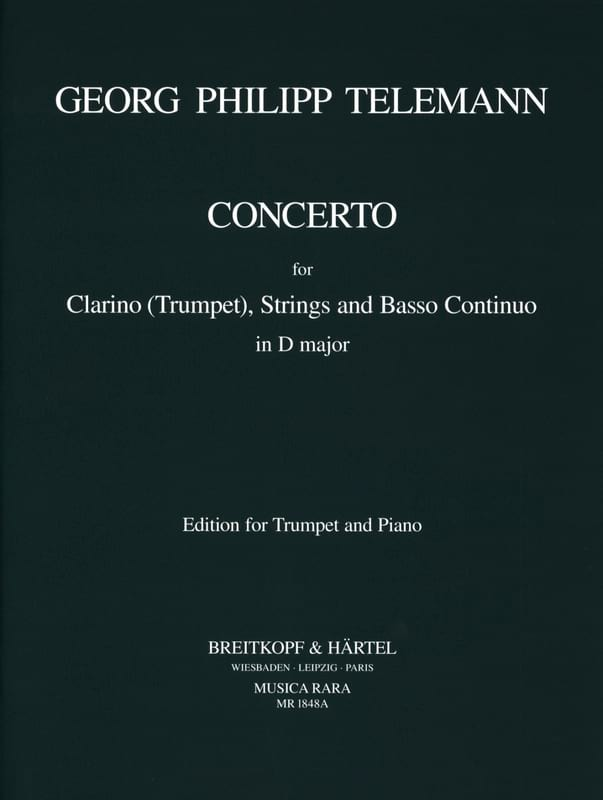 TELEMANN - Concerto In D Major - TWV51: D7 - Partition - di-arezzo.co.uk