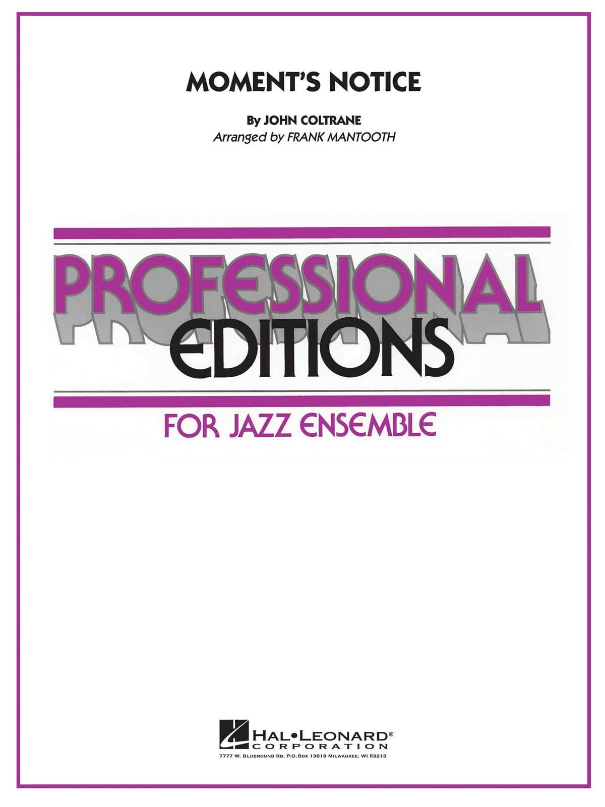 Moment's Notice - John Coltrane - Partition - laflutedepan.com