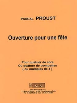 Pascal Proust - Opening for a party - Partition - di-arezzo.com