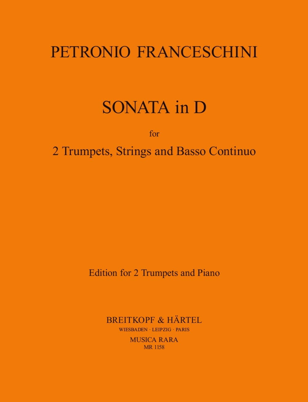 Sonata In D - P. Franceschini - Partition - laflutedepan.com