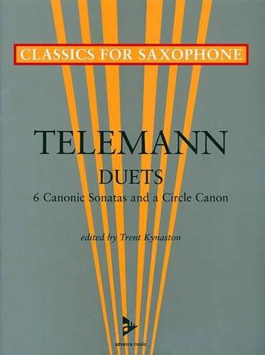 TELEMANN - Duets - 6 Canonic sonatas - Partition - di-arezzo.co.uk
