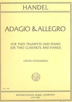 Adagio & Allegro - HAENDEL - Partition - Trompette - laflutedepan.com