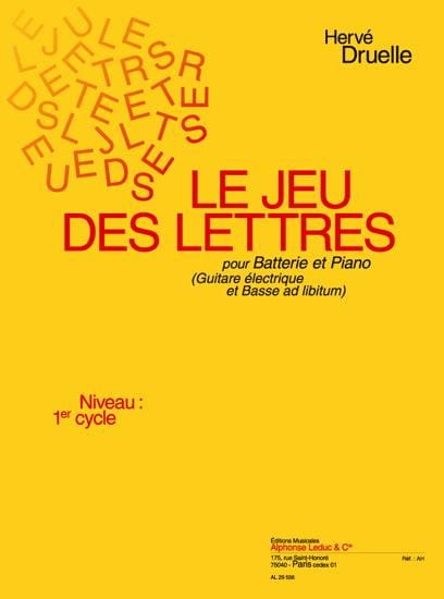 Le Jeu Des Lettres - Hervé Druelle - Partition - laflutedepan.com