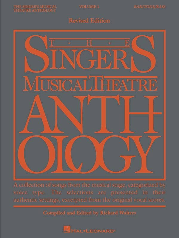 - The Singer's Musical Theater Anthology Volume 1 - Baritone / Bass - Partition - di-arezzo.co.uk