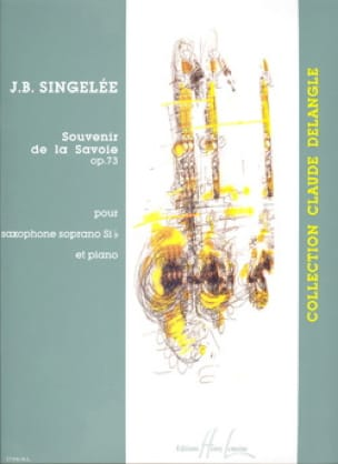 Jean-Baptiste Singelée - Souvenir of the Savoy Opus 73 - Partition - di-arezzo.com