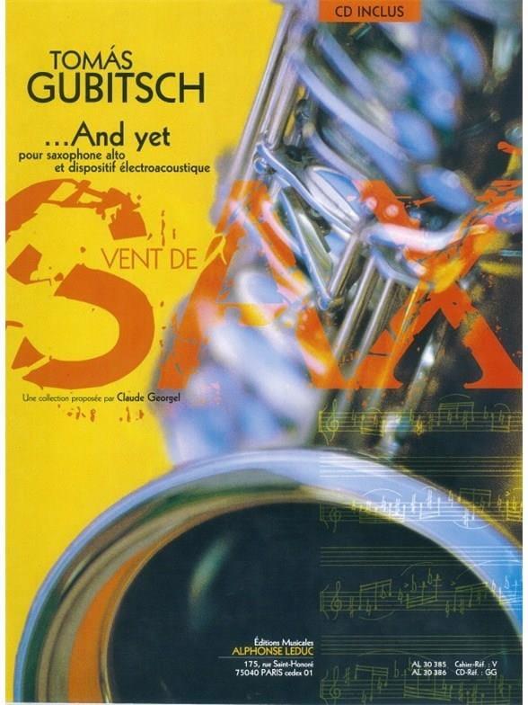 And Yet - Thomas Gubitsch - Partition - Saxophone - laflutedepan.com