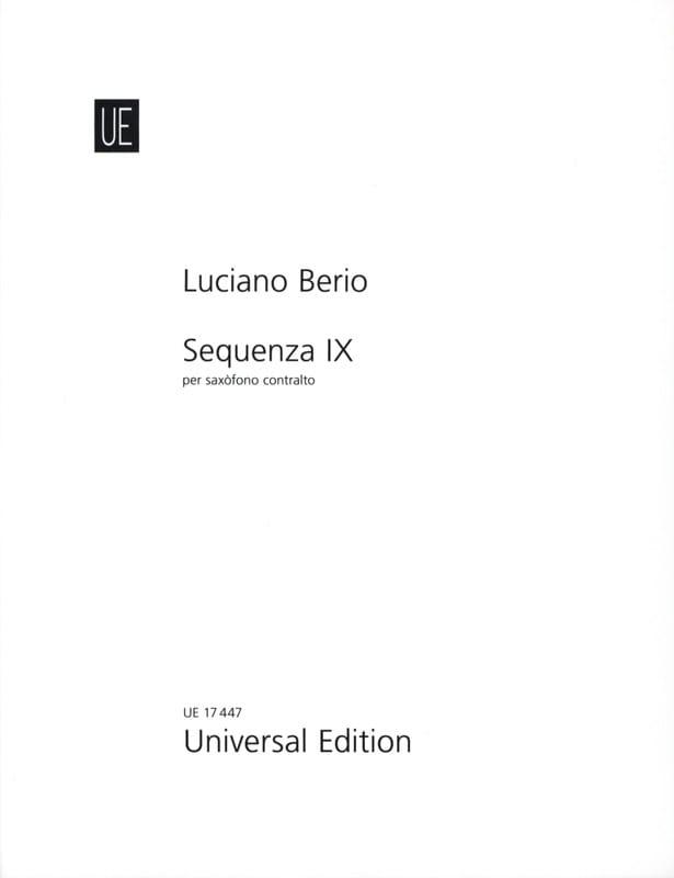 Sequenza IX B - BERIO - Partition - Saxophone - laflutedepan.com