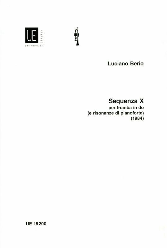 Luciano Berio - Sequenza X - Partition - di-arezzo.com