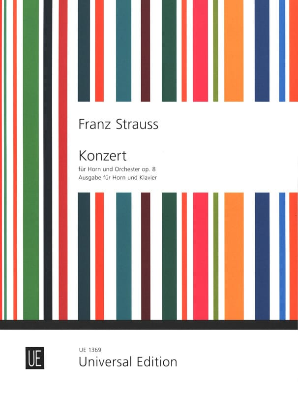 Franz Strauss - Concerto for COR opus 8 in E flat - Partition - di-arezzo.co.uk
