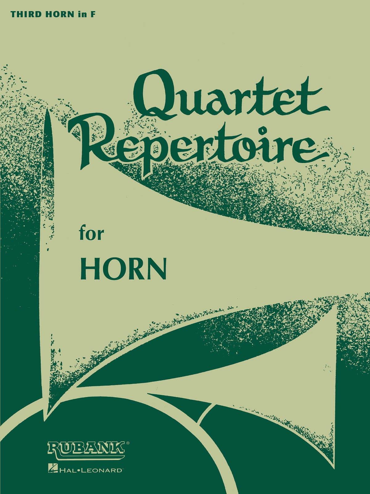 Quartet Repertoire Cor 3 - Partition - Cor - laflutedepan.com