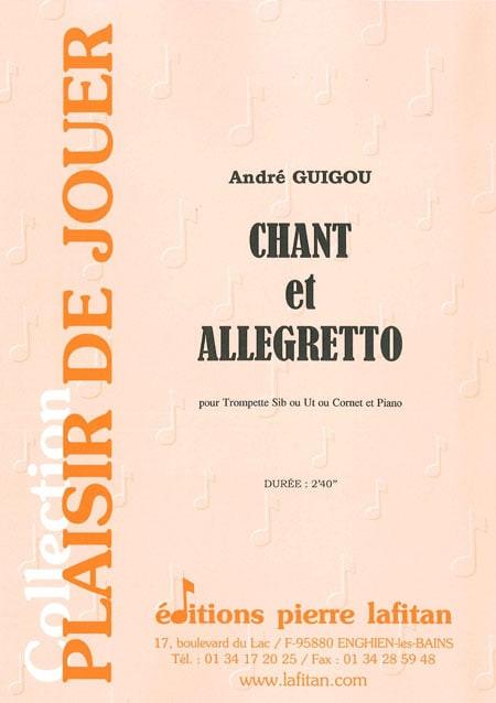 Chant Et Allegretto - André Guigou - Partition - laflutedepan.com