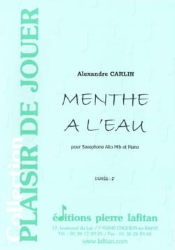 Alexandre Carlin - Mint with water - Partition - di-arezzo.co.uk