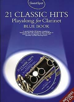 Guest Spot - Blue Book 21 Classic Hits Playalong For Clarinet - laflutedepan.com