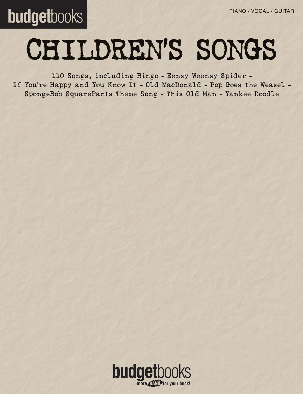 - Budget books - Children's songs - Partition - di-arezzo.co.uk