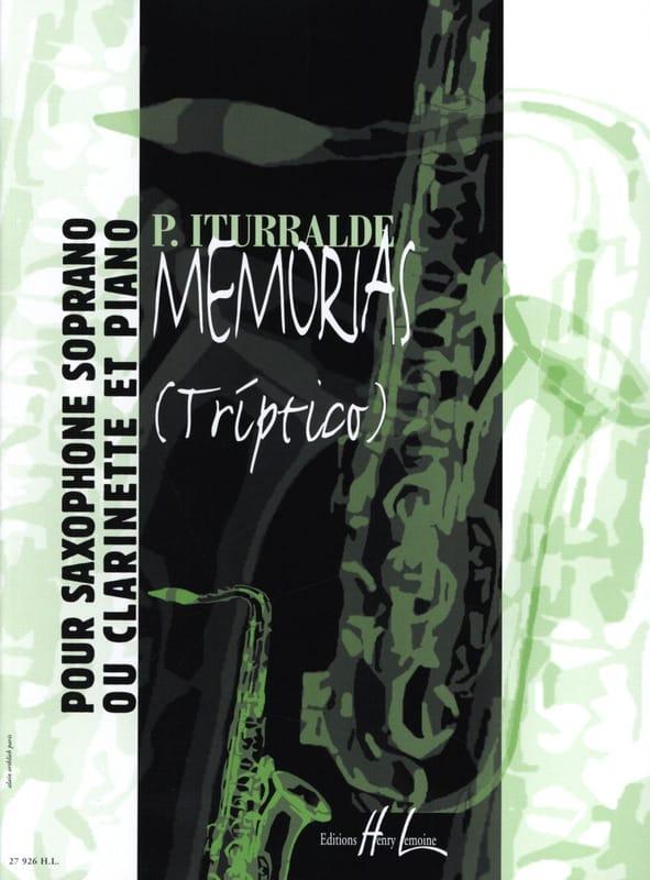 Pedro Iturralde - Memorias Triptico - Partition - di-arezzo.co.uk