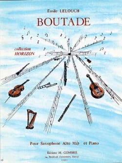 Boutade - Emile Lelouch - Partition - Saxophone - laflutedepan.com