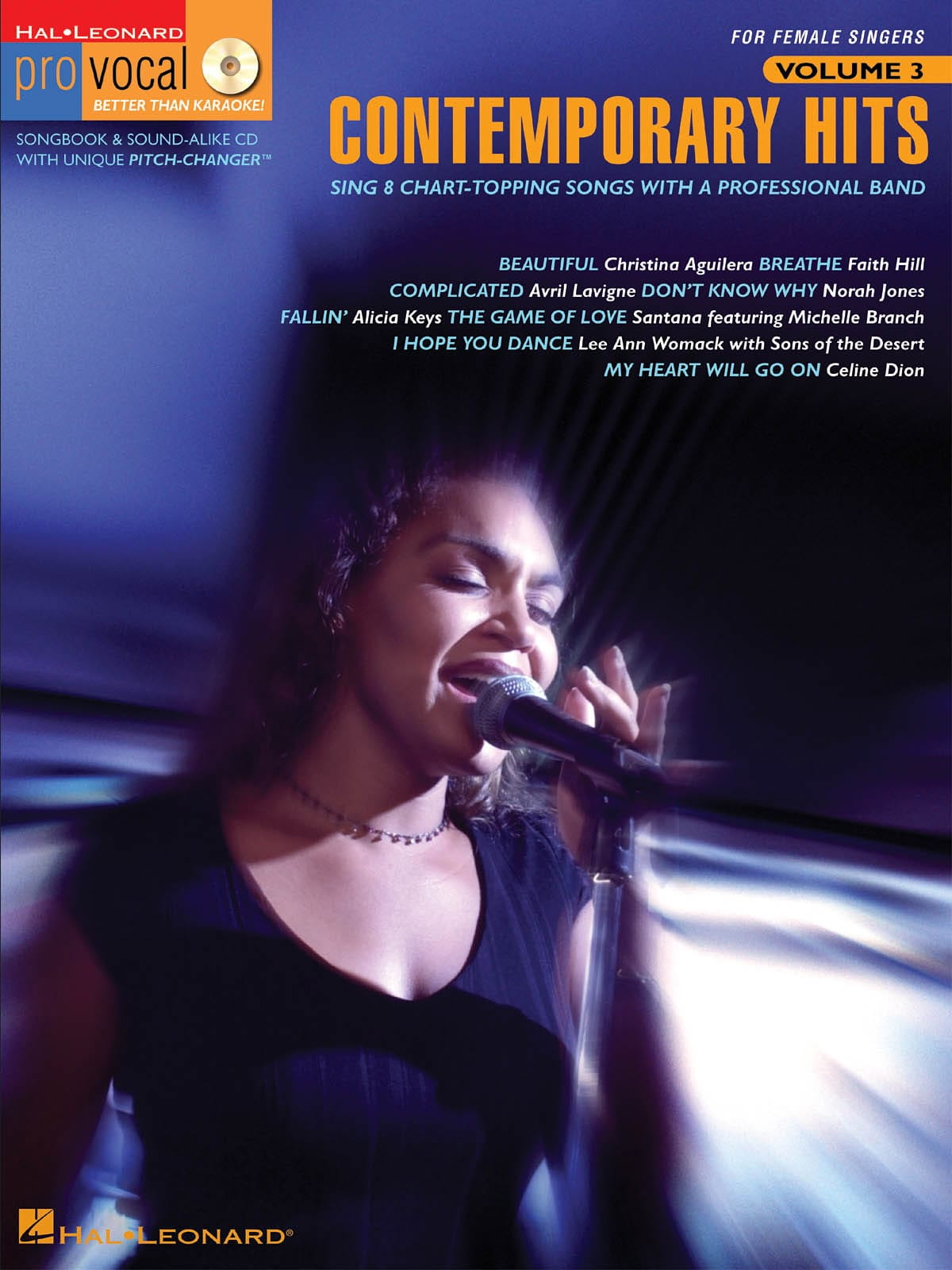 Pro Vocal Women's Edition Volume 3 - Contemporary Hits - laflutedepan.com