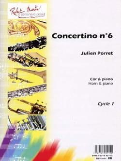 Concertino N° 6 - Julien Porret - Partition - Cor - laflutedepan.com