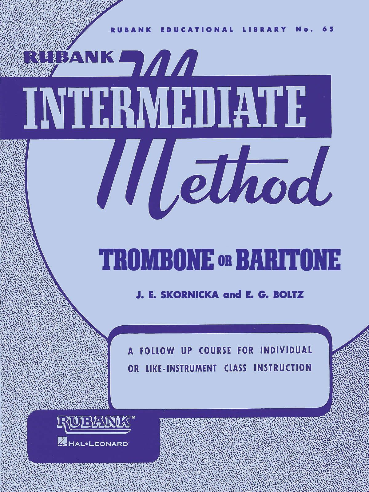 Rubank Intermediate Method Trombone or Bariton - laflutedepan.com